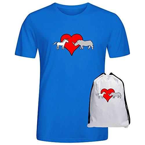 foreric-unicorn-loves-rhino-t-shirts-for-men-blue