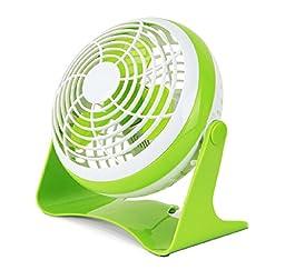 Generic Small USB Desk Fan Green 7 inches