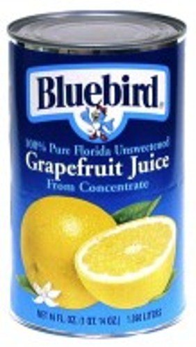 Bluebird  Unsweetened Grapefruit Juice, 46-Ounce Cans (Pack of 12) by Bluebird