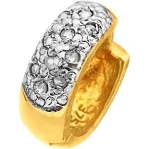 9ct Gold Men's Diamond Hoop Earring (221013922)