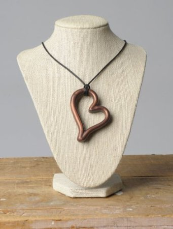 Teethease Heart Pendant Toy, Bronze
