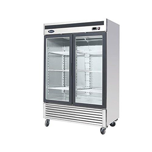 Atosa MCF8707 Bottom Mount (2) Two Glass Door Refrigerator (Refrigerator Two Door compare prices)