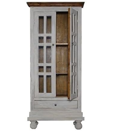 Rustico vetro Fronteggiato vetrinetta Dresser armadio legno porte Country Style