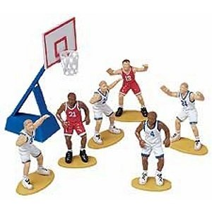 7 Piece Basketball Cake Decoration Set - 1
