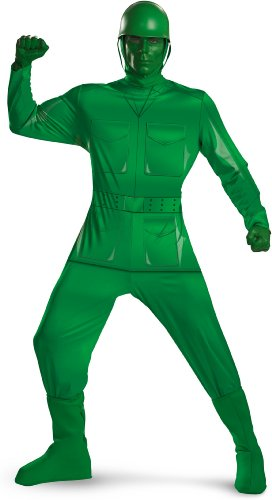 Disguise Men's Green Army Man Dlx Adult,Multi,XL (42-46) Costume