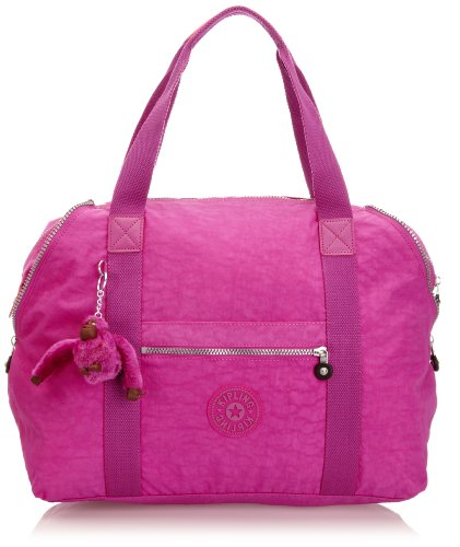Kipling Art M Medium Travel Tote Bag K0136213K Pink Orchid