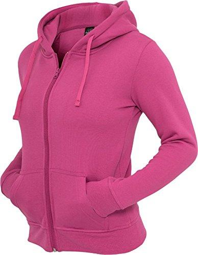 Urban Classics Ladies Zip Hoody, Farbe:fuchsia;Größe:L