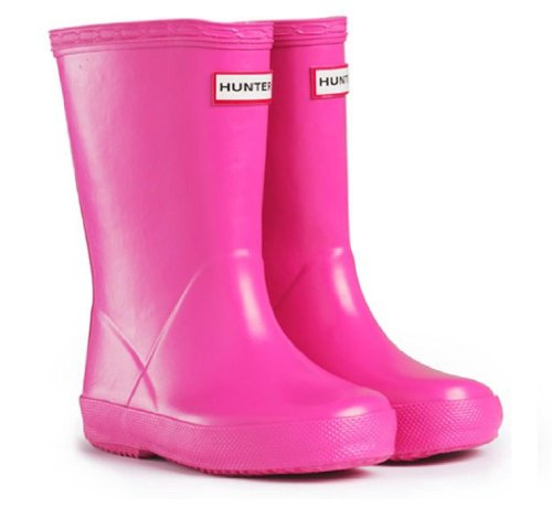 Hunter Fuchsia Girls Kids First Wellies Size UK 12 Euro 30/31 Childrens Hunter Wellington Boots