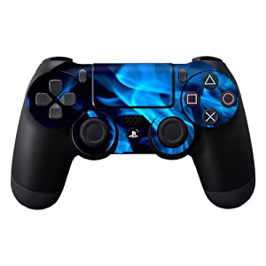 Protective Vinyl Skin Decal Cover for Sony PlayStation DualShock 4 Controller Sticker Skins Blue Flames