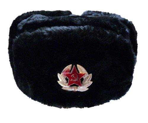 Russenmütze mit oder ohne Stern Schwarz 59