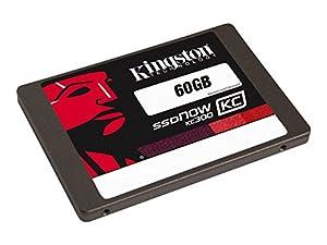 Kingston SKC300S37A/60GB interne SSD-Festplatte 60GB (6,4 cm (2,5 Zoll), MLC, SATA III) schwarz