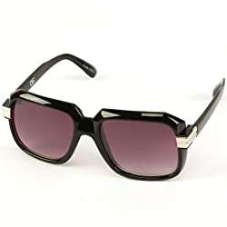 Run DMC Rapper Retro Gazelle Large Sunglasses Black