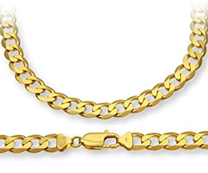 ChainCo 9ct Yellow Gold 36.5g Curb Necklace of 51 cm/20 Inch Length and 7.8mm Width