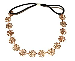 Funky Monkey Gold Color Hollow Flower Shaped Hair Band Head Band For Women