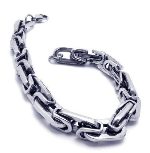 CET Domain SZ11-1108 Titanium Silver Jazz Steel Bracelet for Men