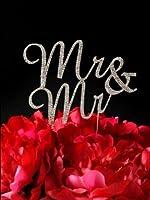 Silver Crystal Rhinestone Gay Cake Topper - Mr & Mr - Gay Cake Topper