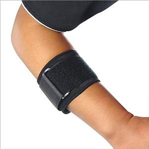 TRIXES Protège coude ajustable noir tennis fitness bande néoprène coudière sport