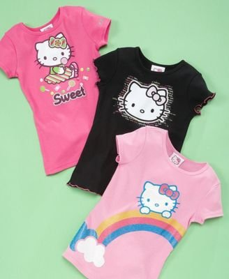 hello kitty little girl sugar glitter tee