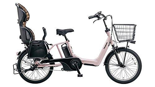 Panasonic(パナソニック) 2016年モデル ギュットアニーズ(Gyutto ANNYS) カラー:マットグレージュ 20インチ BE-ELMA03-T チャイルドシート付き電動アシスト自転車 専用充電器付