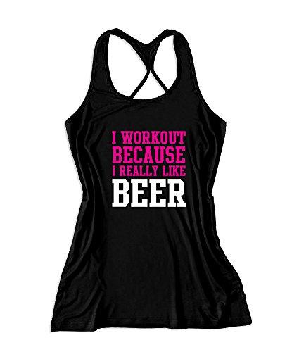 Workoutclothing Women's Workout Fitness Gym Tank Top Large Black