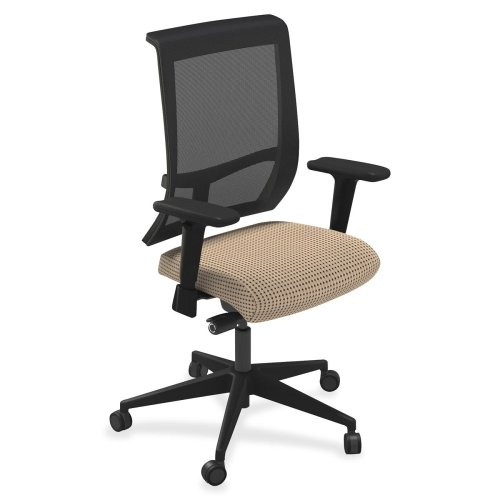"Mayline Commute Series Mesh Back Task Chairs-Mesh Back Chairs, 25""x23""x41""-45"", Expo Latte Fabric"