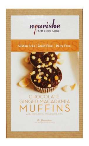 Nourishe Gluten & Grain Free Chocolate Ginger Macadamia Nut Muffin Mix
