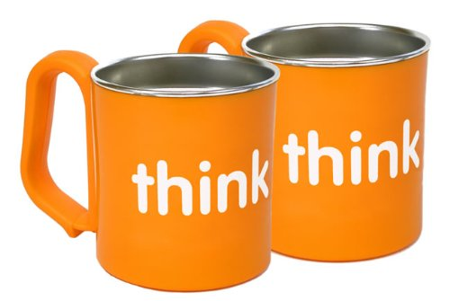 Thinkbaby BPA Free Kids Cup - Orange - Pack of 2