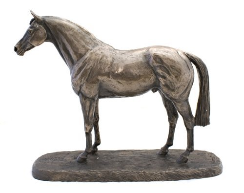 1142 THOROUGHBRED Cold Cast Bronze Horse Sculpture Statue Harriet Glen