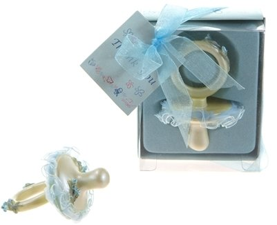 Baby Pacifier Poly Resin - Blue (48 Pieces) front-996124
