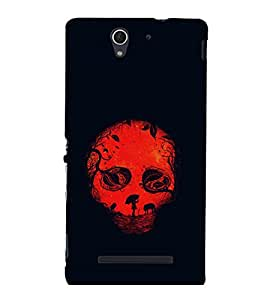 printtech Skull Fantasy Back Case Cover for Sony Xperia C3 Dual D2502::Sony Xperia C3 D2533