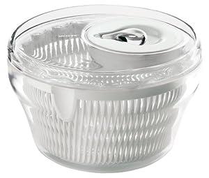 Guzzini Latina 8-1 2-Inch D Salad Spinner, Clear by Guzzini
