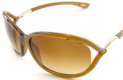 Tom Ford Jennifer FT0008 Sunglasses - 602 Shiny Transparent Rust Brown (Gradient Brown Lens) - 61mm