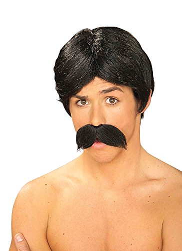 Forum Novelties Men's Burt The Bandit Novelty Wig and Mustache