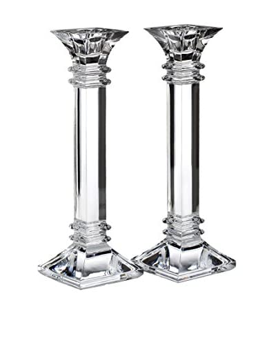 """Marquis by Waterford Set of 2 Treviso 10"""" Candleholders"""