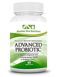 #1 Probiotic Supplement - All Natural Formula Promotes Optimal Health for Women, Men, and Kids. Improve Immune System Function, Colon Health, and Digestion! Safe Formula with Lactobacillus, Acidophilus, and Billions of Live Cultures and Intestinal Flora in Every Serving. Number One Nutrition Advanced Probiotics are 100% Vegetarian with No Known Side Effects! Experience Dramatically Improved Health or 200% Money Back Guarantee !