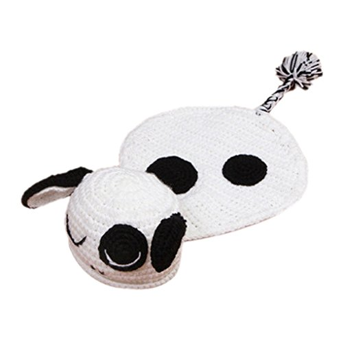 SMARSTAR Newborn Baby Handmade Sheep Lamb Crochet Photography Props Costume Set