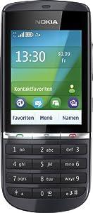 Nokia Asha 300 Handy (6,1 cm (2,4 Zoll) Display, Touchscreen, 5 Megapixel Kamera) Graphite