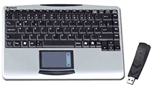 Keysonic Compact Wireless Keyboard with Integrated Touch Pad (2.4Ghz Radio Frequency, Notebook Layout) UK Layout