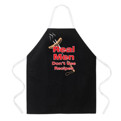 Attitude Apron Real Men Apron Black One Size Fits MostB001D1YNWQ