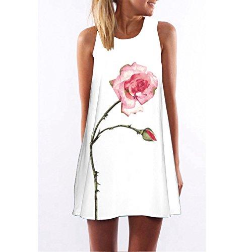RAYWIND Neueste Kleid f¨¹r Frauen beil?ufige Sommer Kleider mit Blumenmuster Picture