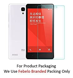 Febelo Branded High Quality Perfect Fitting 2.5D Crystal Clear Curve Edge Tempered Glass Screen Protector For Xiaomi Redmi Note Prime