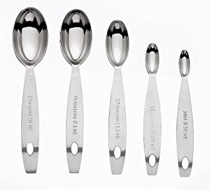 Cuisipro Stainless Steel Measuring Spoon Set, Odd Sizes