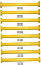 "Big Sale Best Cheap Deals Eastern Jungle Gym 15-1/8"" Steel Monkey Bar Ladder Rungs - Yellow (Set of 8)"