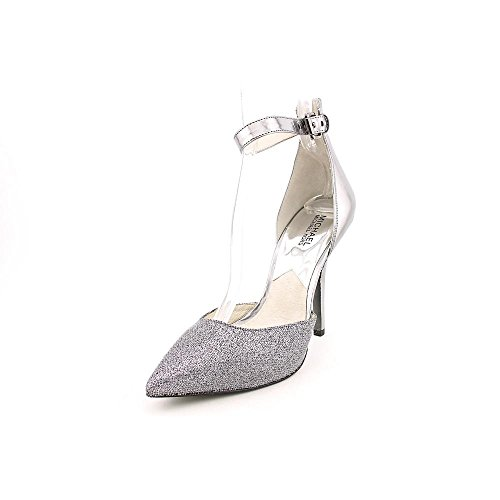 Michael Kors Brena Ankle Strap Womens Size 7 Silver Leather