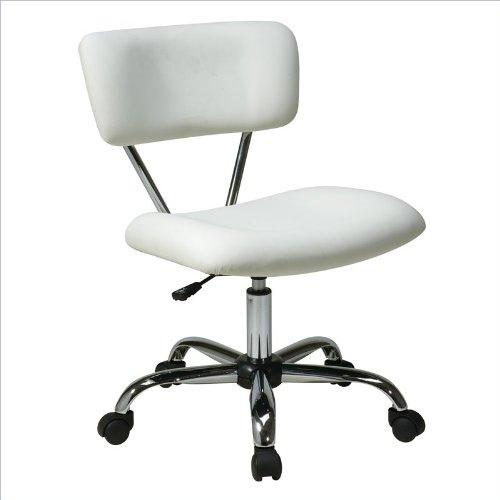 Mid-Back Vista Task Office Chair Finish: White