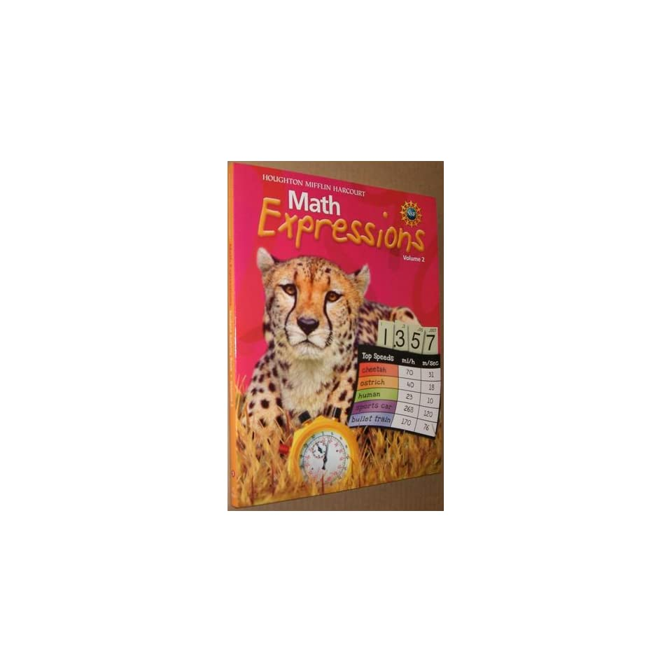 Math Expressions, Grade 5 Student Activity Book Houghton Mifflin Math