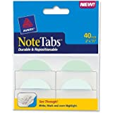 Avery NoteTabs, 2 x 1.5 Inches, Pastel Blue and Green, 40 per pack (16294)