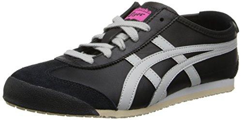 Onitsuka Tiger Women's Mexico 66 Shoe,Black/Light Grey,9 M US