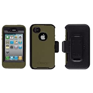 Otterbox Defender Series Case for iPhone 4S, Gunmetal Grey/ Envy Green