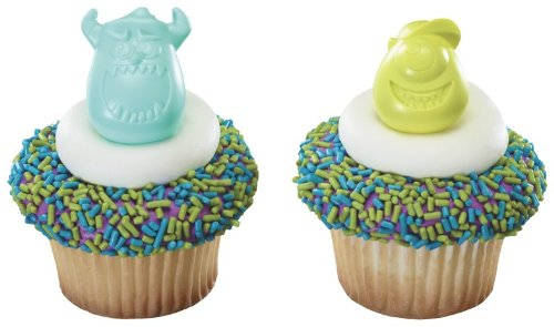 Monsters University Cupcake Rings - 12 Ct - 1